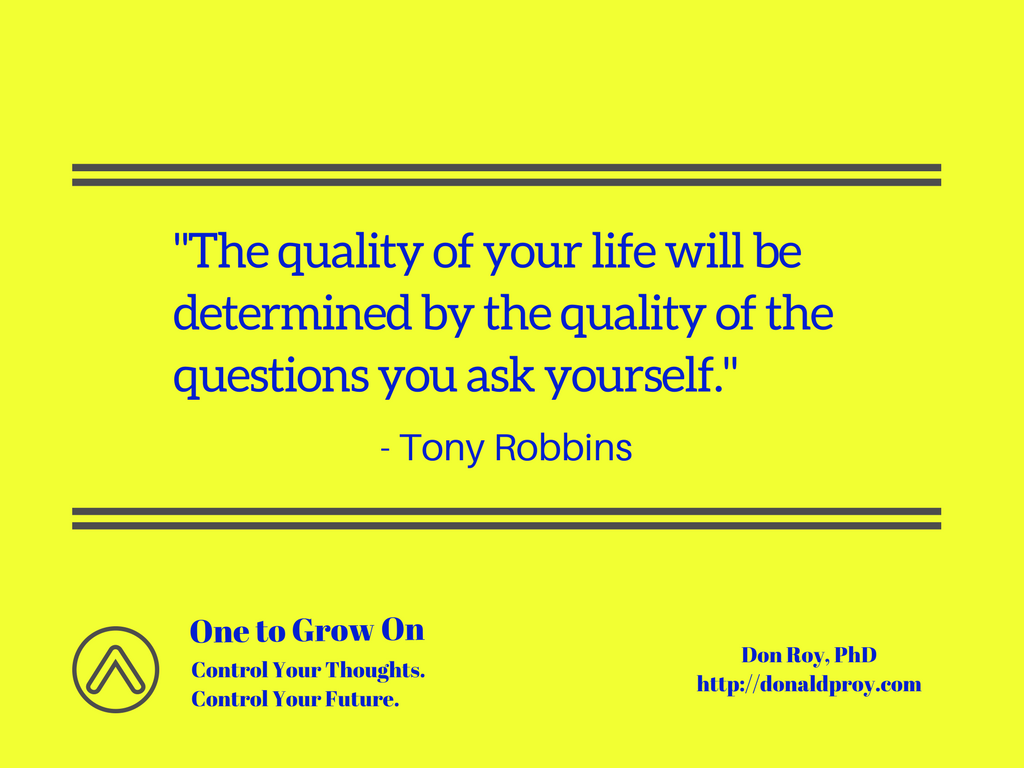 Tony Robbins quote on questions